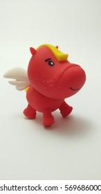 Mini horse red