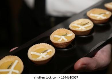 Mini lemon tart quiches