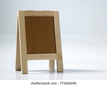 mini notice board  on the white background