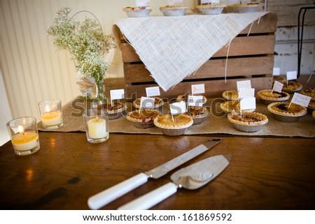 Mini Pies Southern Wedding Reception Stock Photo Edit Now