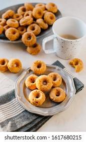 Mini Pumpkin Donut Breakfast Food Styling