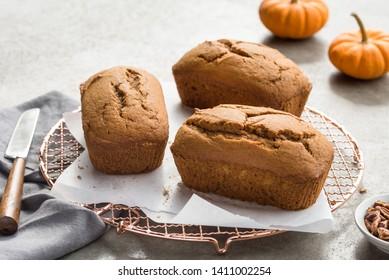 Mini Pumpkin Loaves on a Cooling Rack