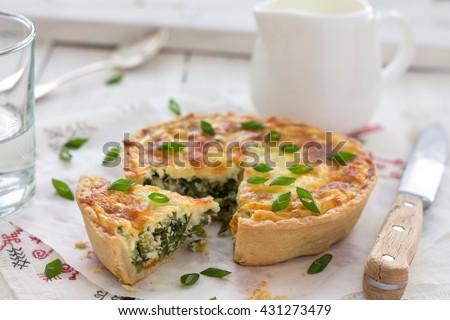 Mini quiche with green