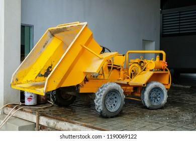 Mini scooptram truck in construction site.
