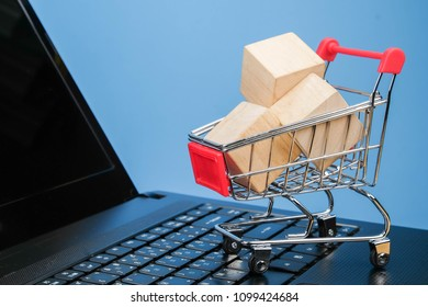 mini shopping cart lover or shopaholic concept