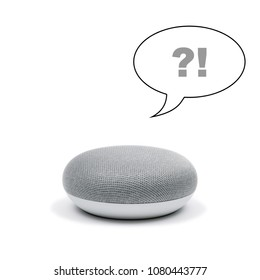 Mini Smart Speaker answering a question