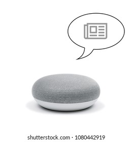 Mini Smart Speaker with news program
