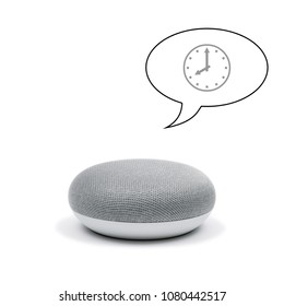 Mini Smart Speaker telling time