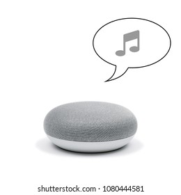 Mini Smart Speaker that is playing music
