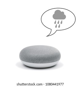 Mini Smart Speaker with a weather forecast