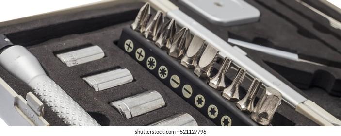 Mini tool box in hardware shop
