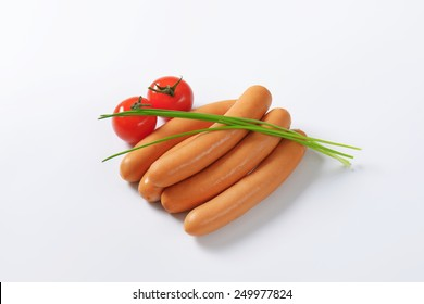Mini Vienna sausages  with fresh tomatoes and chive