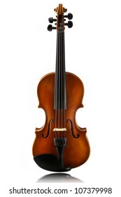 mini violin isolated on  white background