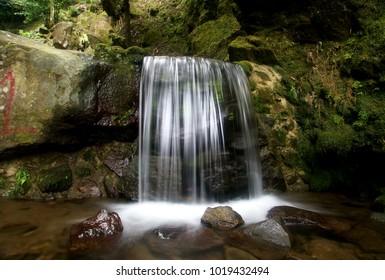 Mini Waterfall at Parang Ijo Park Central Java, Indonesia