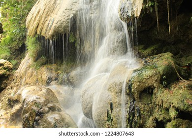 Mini waterfall with rocks