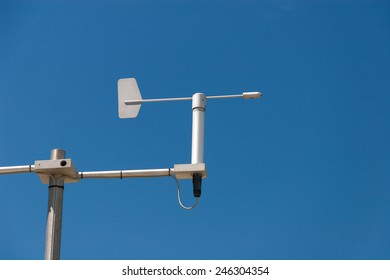 Mini Weather station against the blue sky