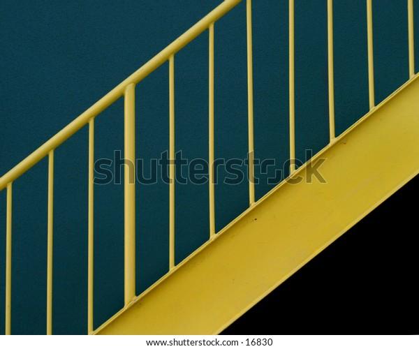 A miniamalist stair case image.