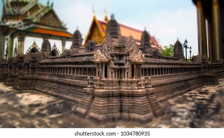 Miniature of Angkor Wat at Phra Thep bidon Castle inside Wat Phra Kaew
