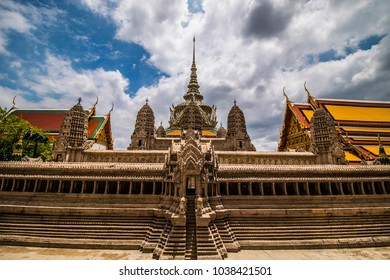 Miniature of Angkor Wat at Phra Thep bidon Castle inside Wat Phra Kaew. Bangkok Thailand