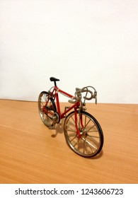 miniature bicycle in red color
