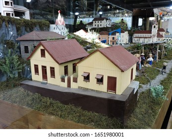 Miniature building models in Garibaldi, RS, Brazil. February, 2020.