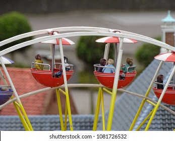 A miniature ferris wheel in Madurodam, The Hague, The Netherlands. This picture is taken in the theme park with all traditional Dutch highlights.