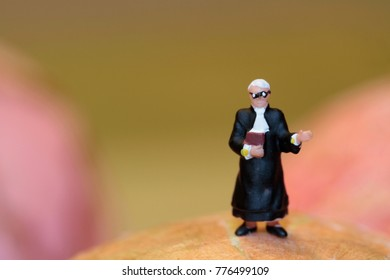 miniature figurine of a judge