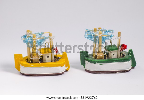 Miniature fishing boats