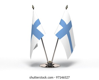 Miniature Flag of Finland (Isolated with clipping path)