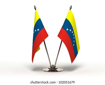 Miniature Flag of Venezuela (Isolated with clipping path)