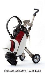Miniature golf bag - clipping path included