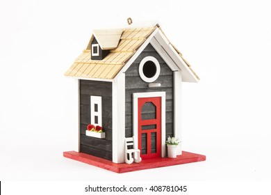 miniature house on a white background