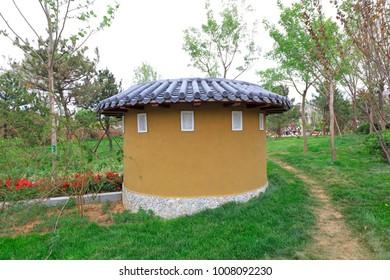 miniature landscape of the Zhangzhou earth building in Fujian