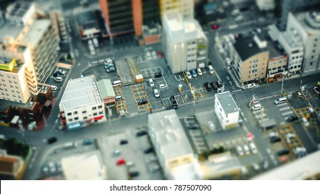 Miniature like townscape
