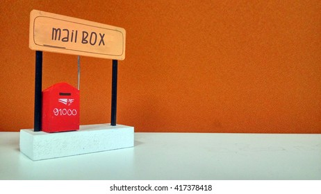 Miniature Mail Box with Sign (Mail Box)