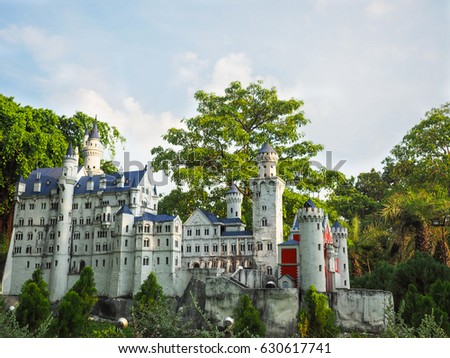 Miniature model of Neuschwanstein