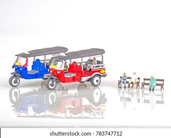 miniature model tuk tuk or three whell car in Thailand . Tuk tuk Thailand.