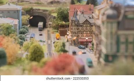 Miniature model,miniature building,city