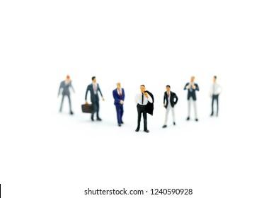 Miniature people : Buisnessman with friend,Buisness Team concept.