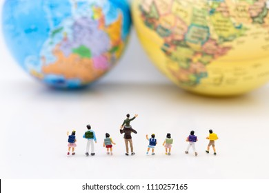 Miniature people: Children's group, Non-school learning. Image use for Learn More without the books, education concept.