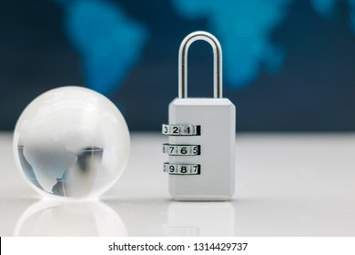 Miniature people are decrypting unlock padlock, Decrypt the key. concept for data security breach, risk and hacker attack.