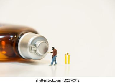 Miniature people Drilling Safe