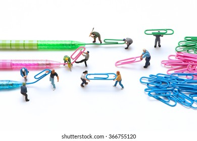 Miniature people making clip.