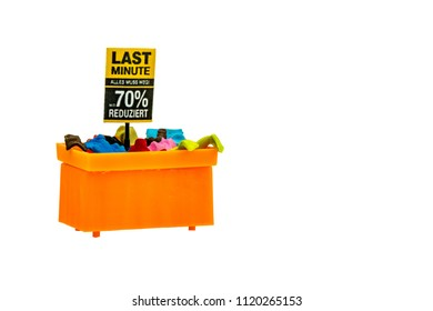 Miniature people office, worker, and shopping concept in variety action on white background with space for text