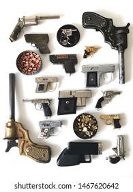 Miniature Pistol Collection Toy Pistol Cap Guns Collection