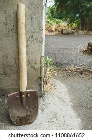 Miniature shovel for working in the garden