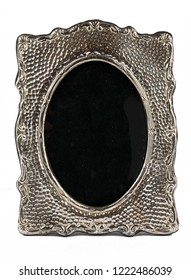 Miniature Silver Picture Photo Frame on White background