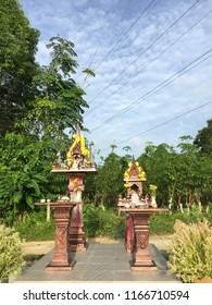 A miniature spirit house that you can find outside most homes in Thailand