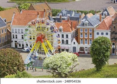 Miniature Town scene, Netherlands, Europe