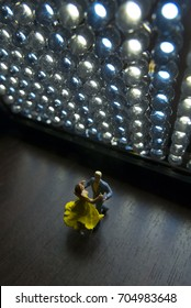 Miniature toy - dance concept (Top view)